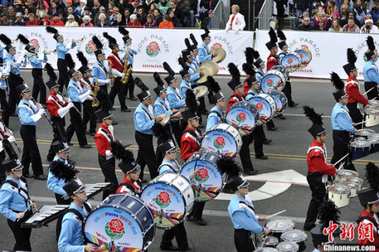 Chinese band at Rose Bowl parade