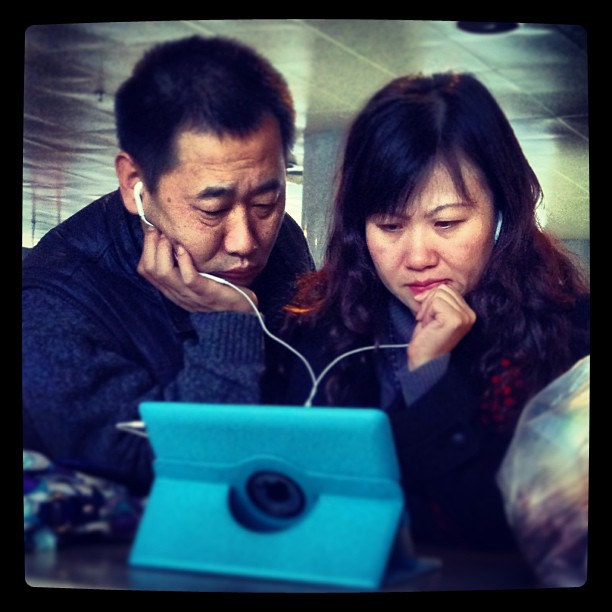 Chinese couple killing time