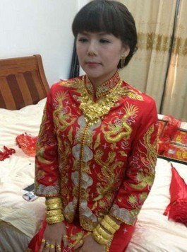 Daughter married off billion yuan dowry