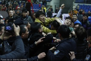 Fans beat up refs in WCBA finals