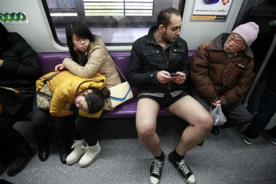 No Pants Subway Ride 6