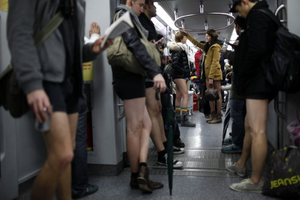 No Pants Subway Ride 7