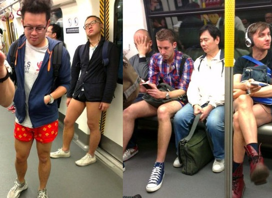 No Pants Subway Ride Hong Kong