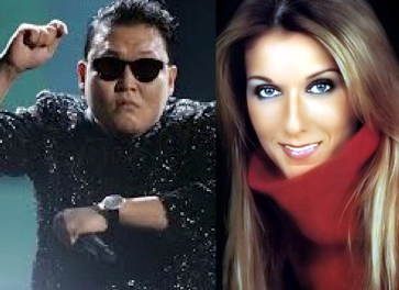 PSY and Celine Dion