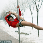 Pole dancers in snow 2