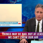 Jon Stewart And Neil deGrasse Tyson Talk About China's Pollution, Space Laser