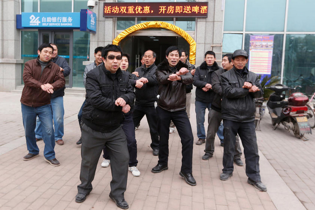 Workers do Gangnam Style 1