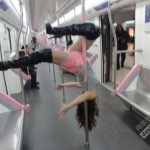 Wuhan subway pole dance girl 1