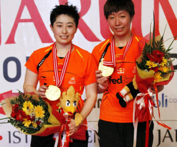 Yu Yang and Wang Xiaoli victorious