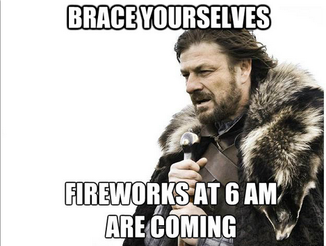42 LEAD Brace yourselves fireworks are coming