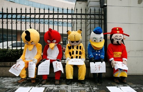 Angry Birds protest 1