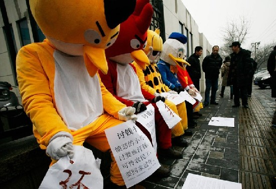 Angry Birds protest 2