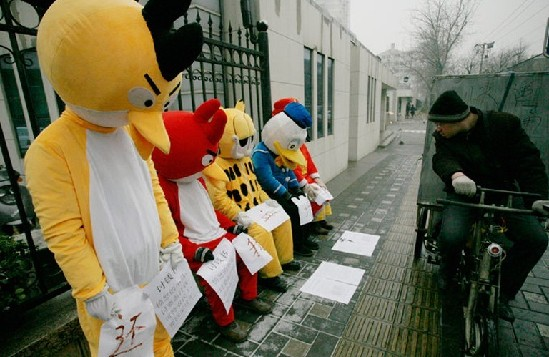 Angry Birds protest 3