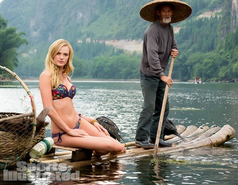 Anne V Sports Illustrated in Guilin China