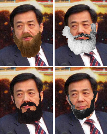Bo Xilai with beards