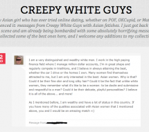 "Introducing: ""Creepy White Guys,"" For All You Single Asian Ladies"