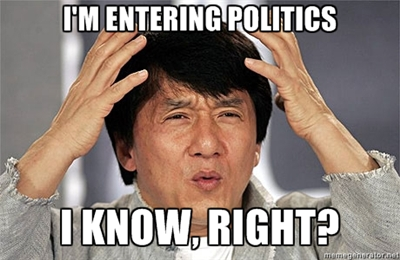 Jackie Chan enters politics