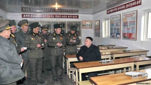 Kim Jong-un eating lunch
