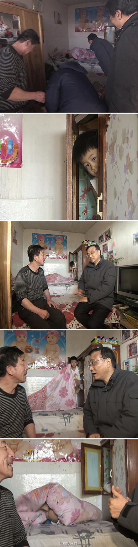 Li Keqiang mooned at farmer's house