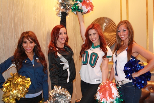 NFL cheerleaders in Beijing