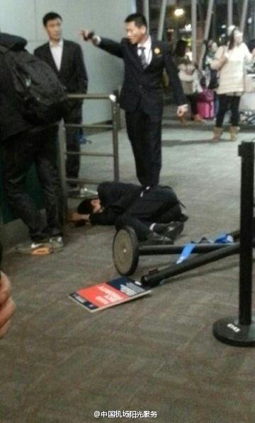 Air attendant beaten