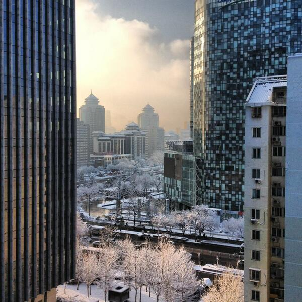 Beijing in snow via @sanverde