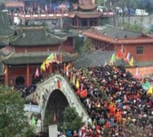 """The Bridge Sure Is Strong"": 300,000 Gather Atop Bridge In Sichuan For Traditional Festival"