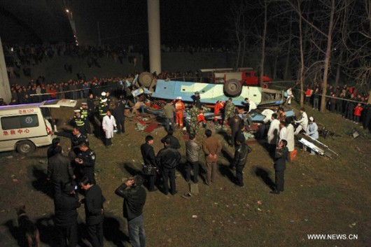 Bus crash Yangtze River Hubei