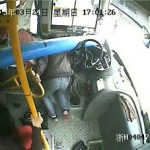 Crazy: Bus Driver Barely Dodges Massive Pole That Crashes Through His Windshield