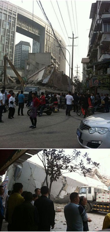 Chengdu building collapse 2