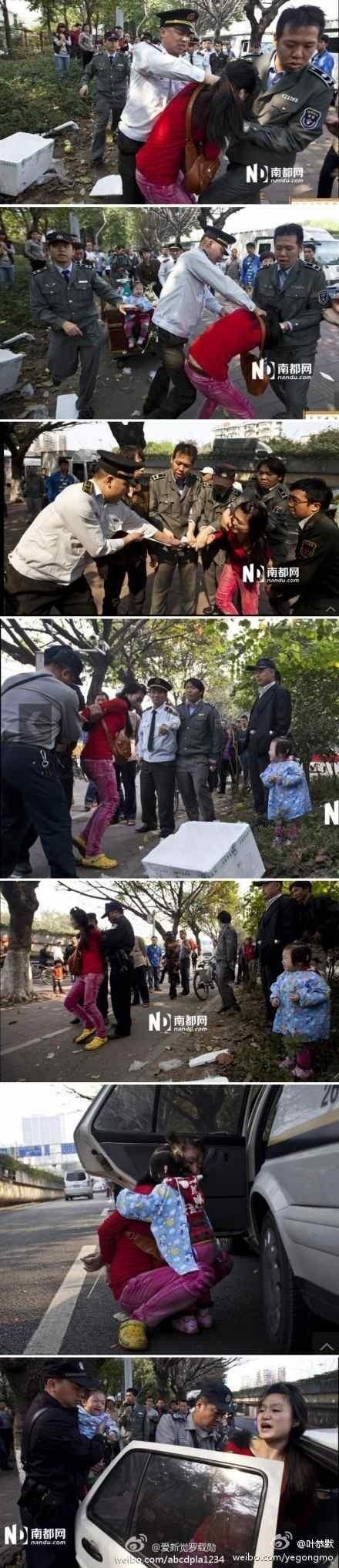 Chengguan bullies woman in Guangzhou
