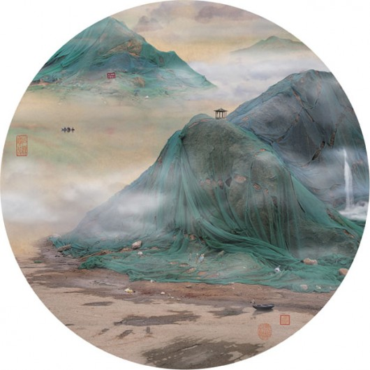 Chinese trash painting landscape 1