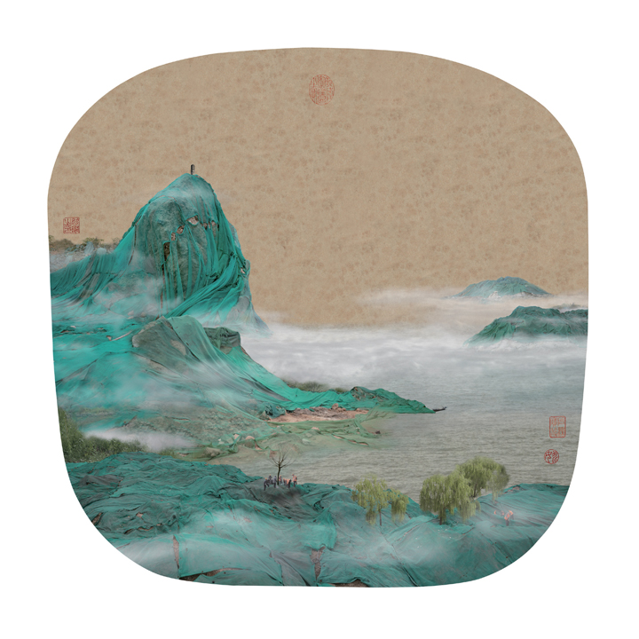 Chinese trash painting landscape 2
