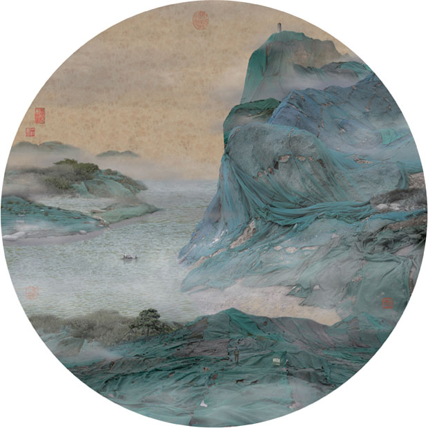 Chinese trash painting landscape 3