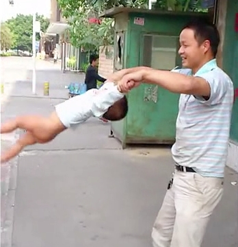 Dad swings baby Shaolin Temple 3