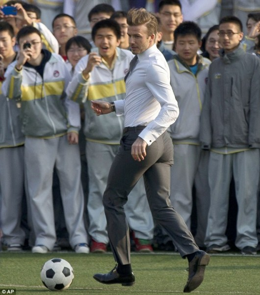 David Beckham in Beijing 2