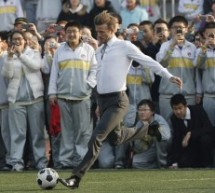David Beckham, Global Soccer Ambassador, Arrives In Beijing