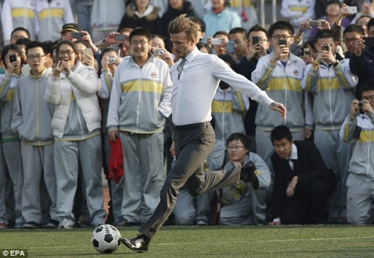 David Beckham in Beijing