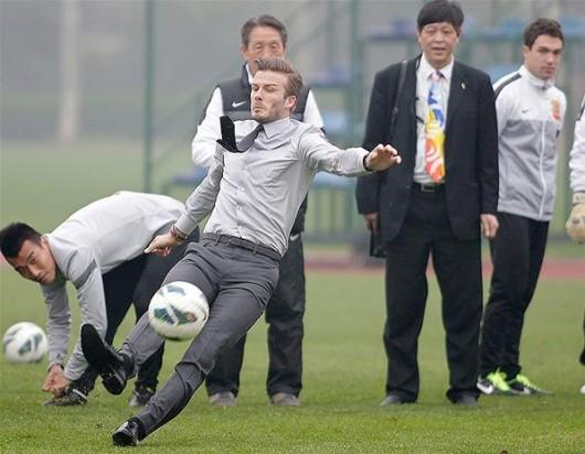 David Beckham slips 1