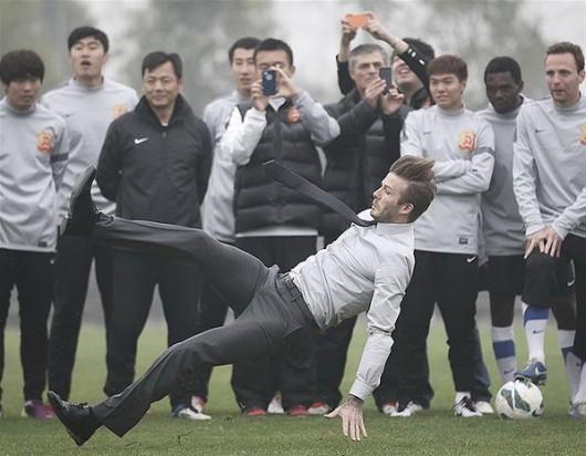 David Beckham slips 2