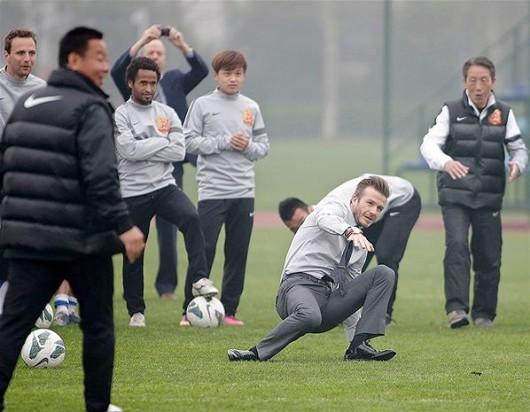 David Beckham slips 3