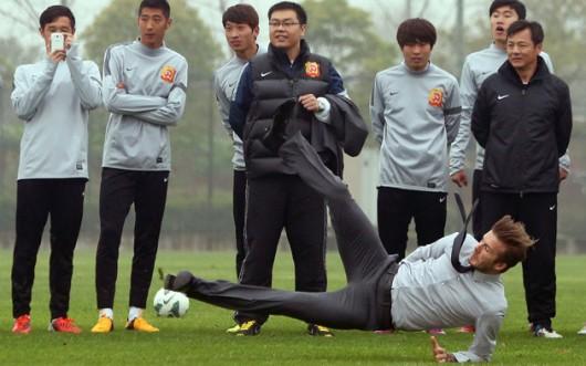 David Beckham slips 4