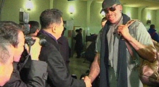 Dennis Rodman meets Kim Jong-un