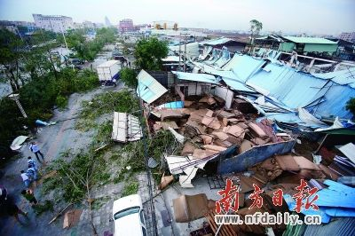 Dongguan hail damage 2