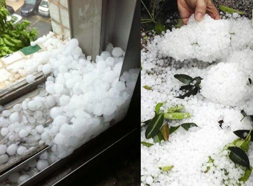 Dongguan hail size