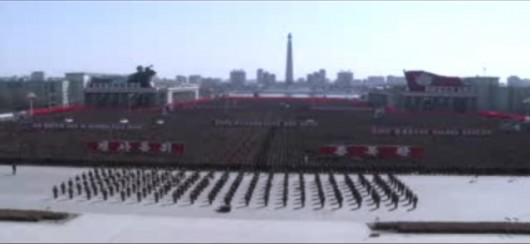 Mass rally at Kim Il-sung Square in Pyongyang 2