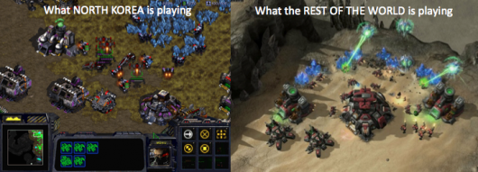 North Korea vs rest of world Starcraft