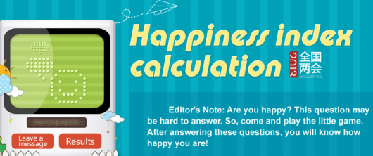People's Daily Happiness Index