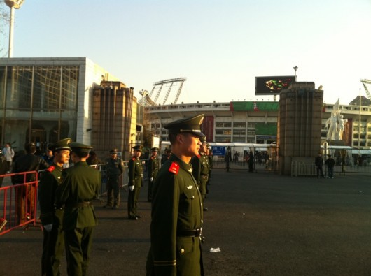 Preparing for China vs Japan at Workers Stadium, by Anthony Tao
