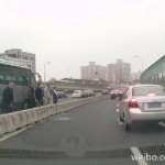 Six Laowai Take A Leak Next To Parked Bus On Shanghai Overpass [UPDATE]